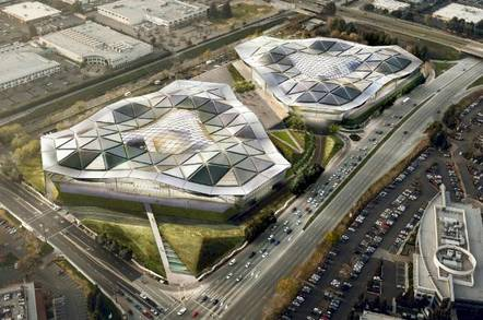 Bird's eye view of the proposed new Nvidia HQ
