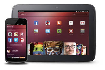 Photo of Ubuntu running on tablets and smartphones