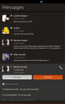 Screenshot of Ubuntu running on a Nexus 7 tablet