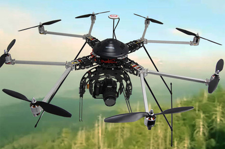The Turbo Ace Octocopter. Pic: Turbo Ace