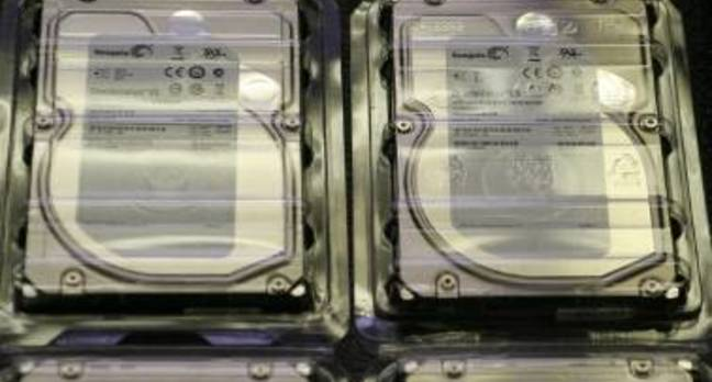 Hard drives in plastic case