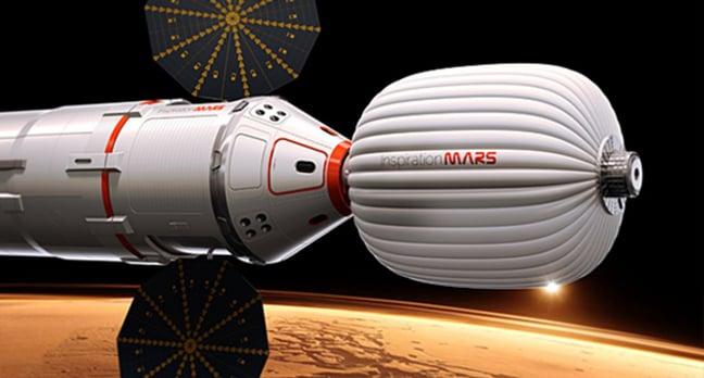 Artist's impression of the Inspiration Mars spacecraft