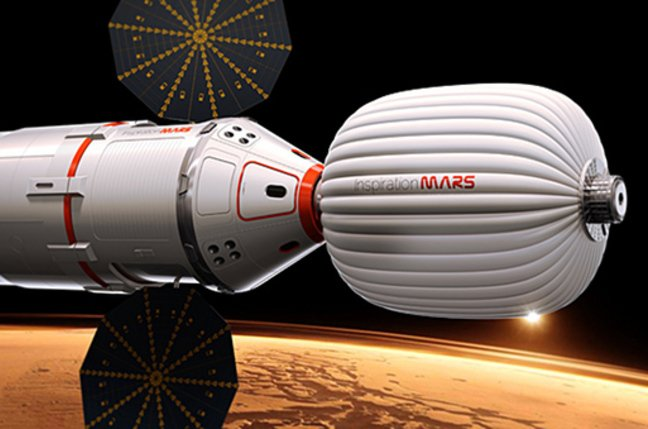 Artist's impression of the Inspiration Mars spacecraft