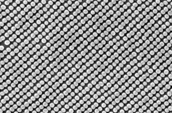 Photo of a hard drive platter created using nanotechology