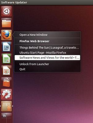 List of windows open in the Firefox application