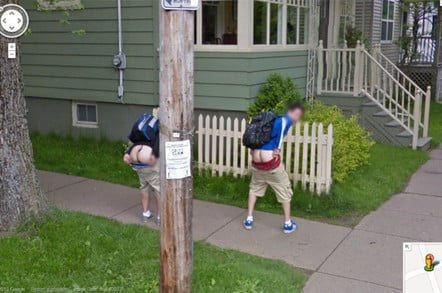 Two lads in Novia Scotia flash their arses on Street View