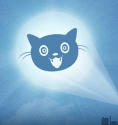 The Internet Defense League's 'Cat Signal' (Fair use)