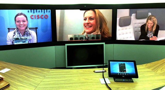 Cisco TelePresence suite - centre image from iPad