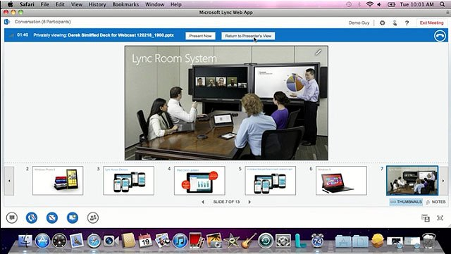 Microsoft Lync 2013 out of web access on a Mac