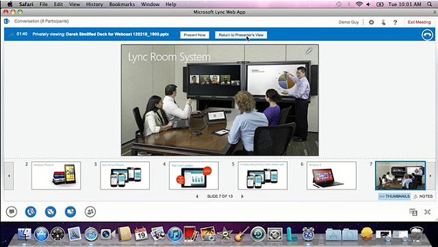 Microsoft Lync 2013 out of web access on a Mac