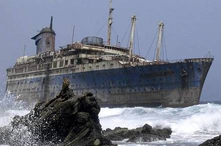 Ship in trouble