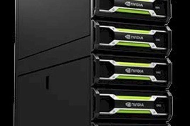 A rack of Nvidia VCAs