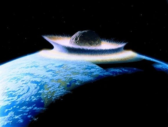 Planetoid crashes into primordial Earth