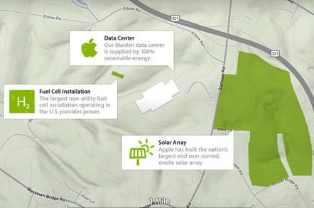 Apple is using entirely renewable energy for its data centers