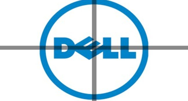 Dell logo in crosshairs