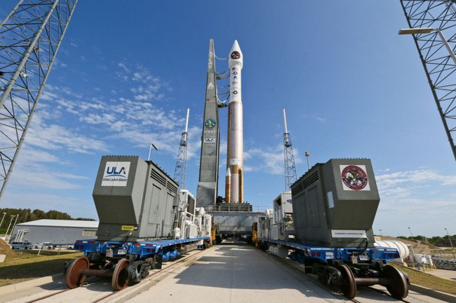 A United Launch Alliance Atlas V rocket prepared for launch in 2002. Pic: United Launch Alliance