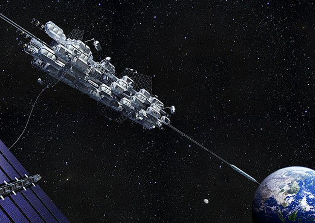 The Obayashi Corporation concept for a space elevator