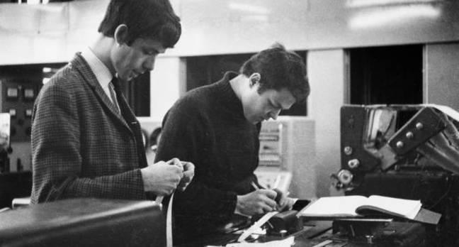 Reading tape LEO II computer, photo: Science Museum / SSPL