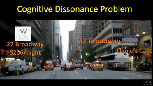 Augmented reality head-up displays for cars – cognitive dissonance problem