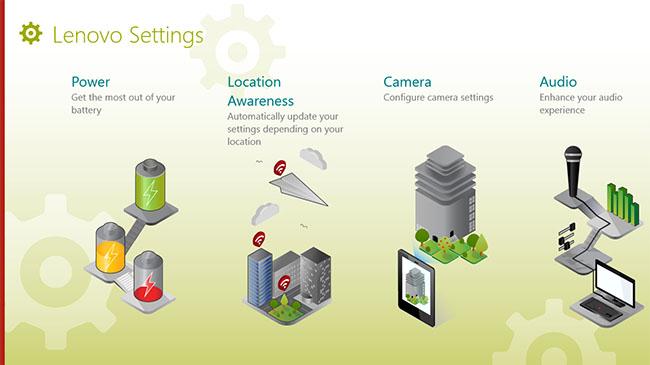 Lenovo Settings in Modern interface