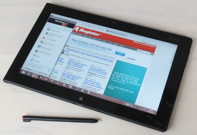 Lenovo ThinkPad Tablet 2 landscape browsing