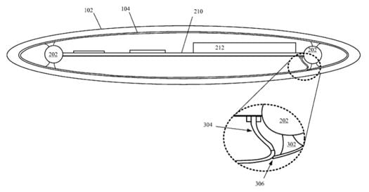Illustration for Apple patent entitled 'Electronic Device with Wrap Around Display'