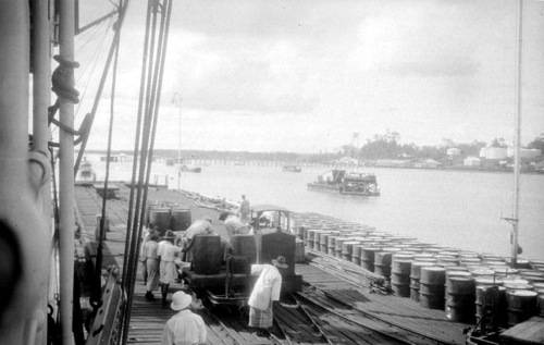 Royal Dutch Petroleum Dock in E Indies