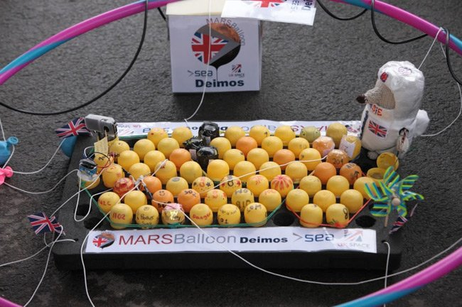 The Kinder Surprise experiment pods in their lifting tray. Pic: SEA