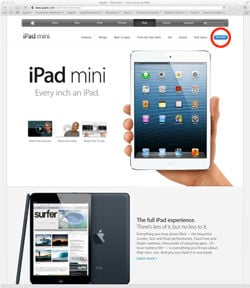 iPad mini ad specimen provided to the USPTO by Apple
