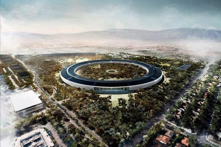Rendering of Apple's planned headquarters in Cupertino, California