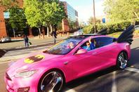 Google's car puts it in the pink