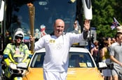 Martin Hellawell with Olympic Torch