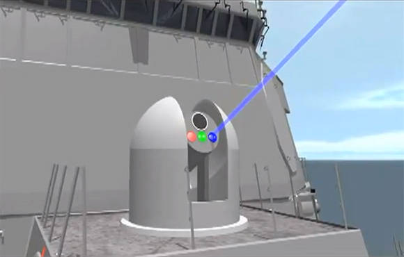 Artist's conception of the US Navy's Laser Weapon System