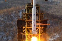 The Unha-3-2 launches from Sohae Satellite Launching Station in December 2012. Pic: Official North Korean image