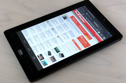 Kobo Arc 7in Android AnTuTu results and format warning