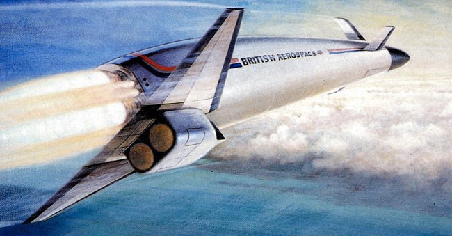 Artists impression of HOTOL in flight