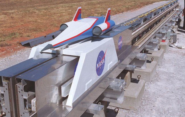 NASA concept drawing of a maglev launcher. Pic: NASA