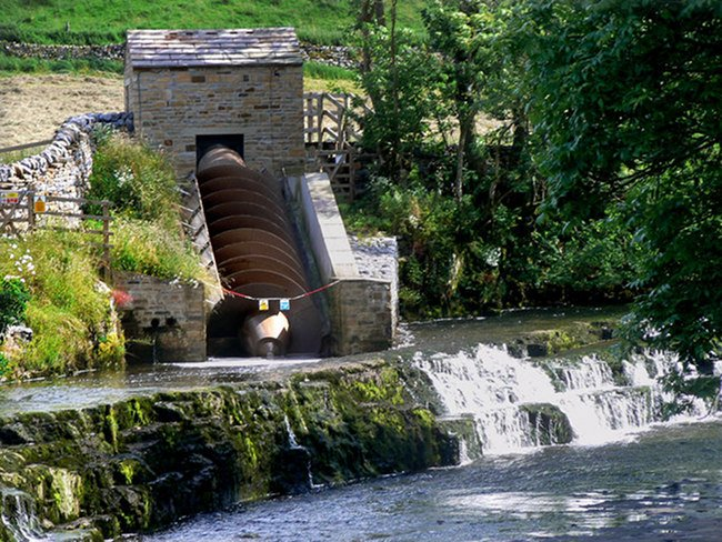 Bainbridge hydro-electric project - the Archimedes screw
