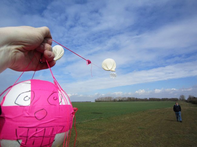 Anthony Stirk's AVA payload attached to the balloon