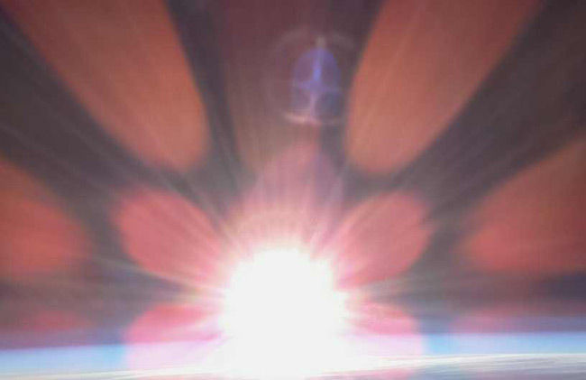 Lens flare captured as the Pi camera snaps the Sun