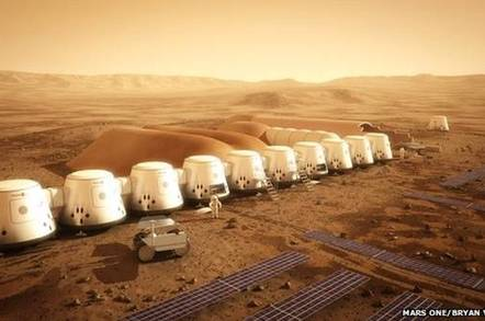 Mars One colony development