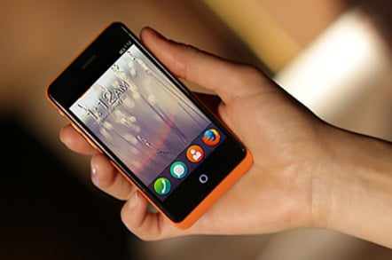 Photo of the Keon Firefox OS phone from Geeksphone