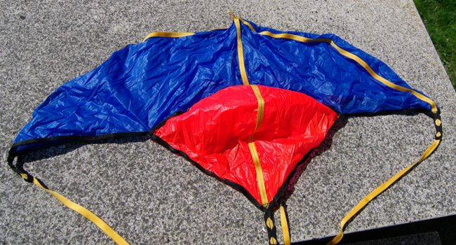 The LOHAN rocket recovery parachute laid out