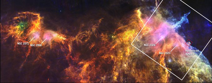Orion B molecular cloud