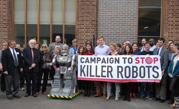 Photo of Campaign to Stop Killer Robots news conference