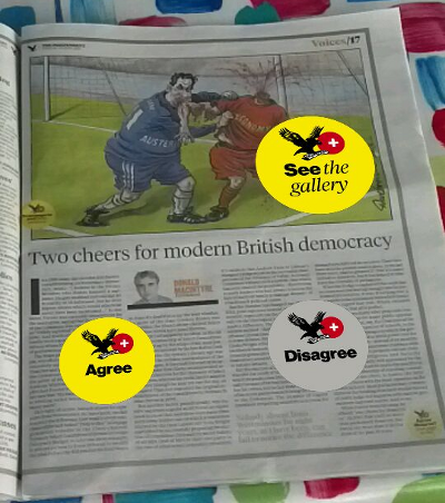 An enhanced page of the Independent
