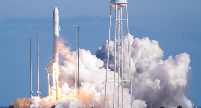 Antares launch on 21 April. Pic: NASA