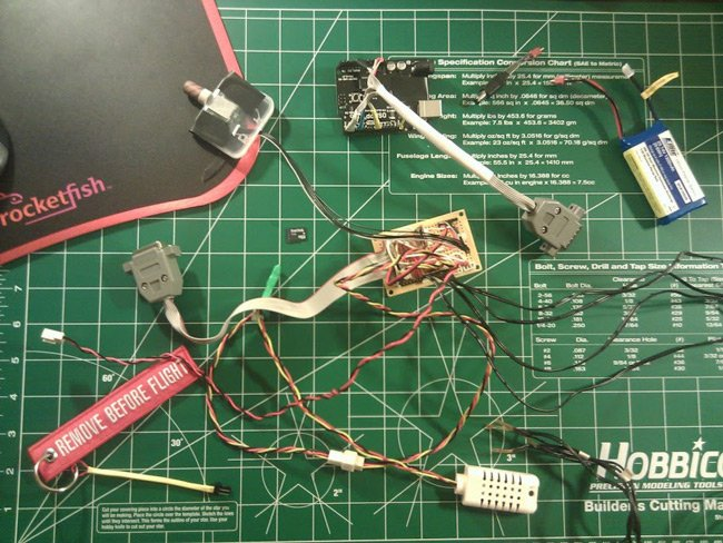 Caleb's electronic sensor rig