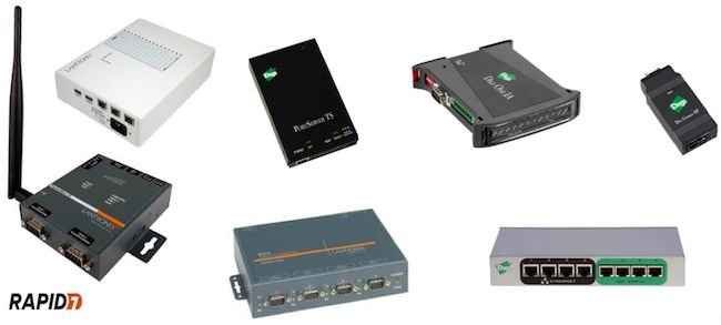 Typical serial to Ethernet converters