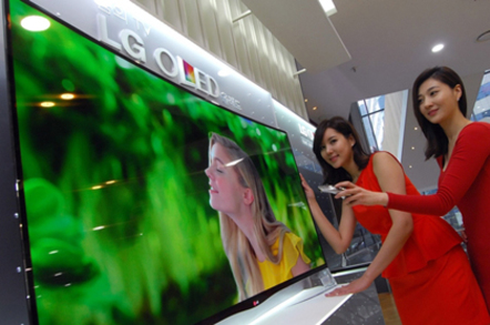 lg beats samsung to oled flexi tv with hella pricey 55 incher the register. Black Bedroom Furniture Sets. Home Design Ideas